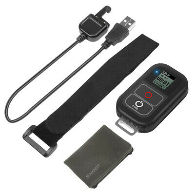 WiFi Remote Control Smart Remote for GoPro 6 5 4 3+ 3 w/ Charging Cable Cord