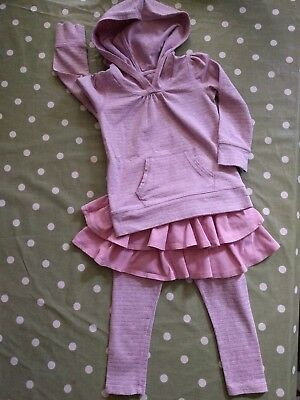 Baby Gap Pink Ra-ra Leggings & Hoody Outfit 3 Years In Excellent Condition!!