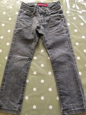 Blue Rebel Boys Grey Denim Jeans 4 Years In Excellent Condition!