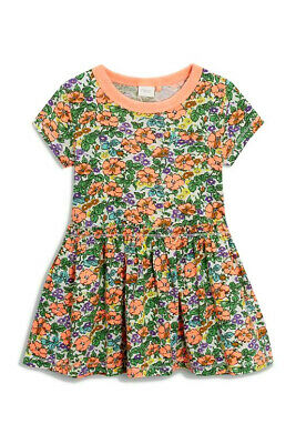 NEXT Baby Girls Bright Floral  Print Dress Age 9-12 Months BNWT