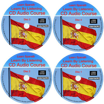 Learn To Speak Spanish By Listening Language Course For Beginners 4 Audio CD Set