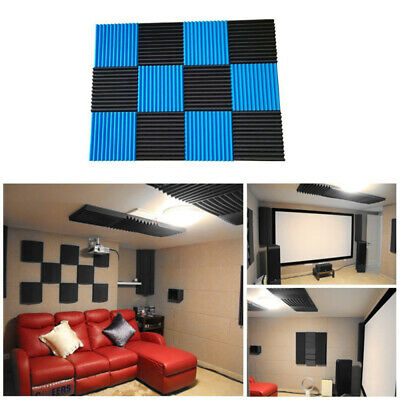 12 Pack Acoustic Panels Soundproofing Foam Acoustic Tiles Studio Foam Sound SHW