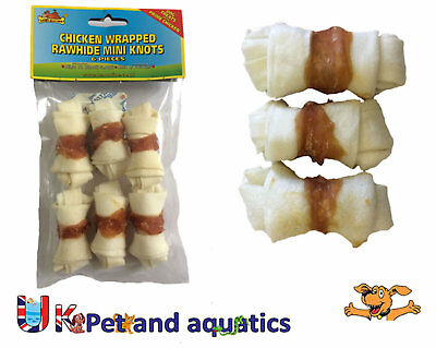 Rawhide Chicken Wrapped Knots, Dog Chew 5cm