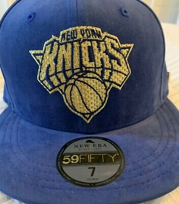 07570c3937f New York Knicks New Era Black Label Blue Velvet Sz 7 Hat Cap Fitted NWT  59fifty