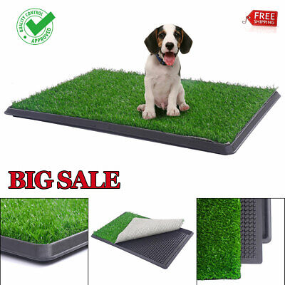 Pet Potty Trainer Grass Mat Dog Puppy Training Pee Patch Pad Tray Travel Toilet