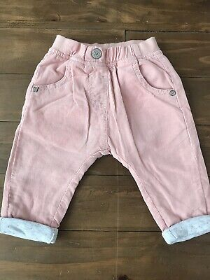 Next baby girls corduroy trousers aged 3 / 6 mths pink