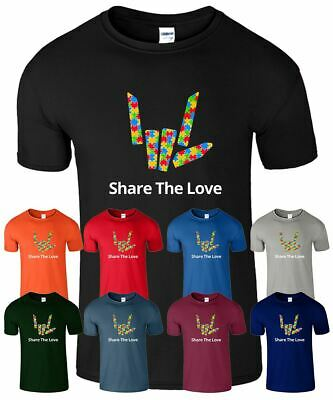 Puzzle Share The Love Kids Tshirt Spotty Stephen Sharer Funny Boys Girls Top