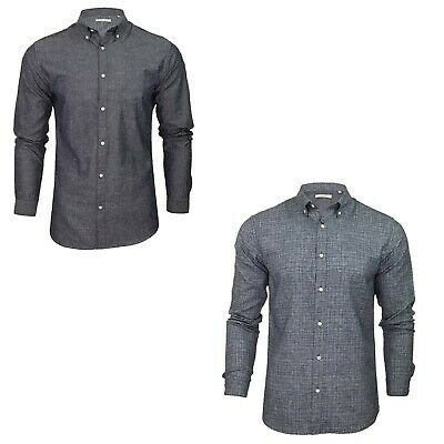 Jack and Jones Men's Slim Fit Casual Shirt Long sleeve Formal Office Work Shirt