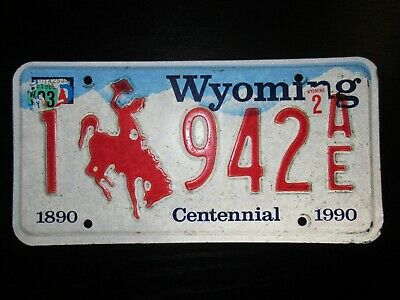 Collection Plaque Us License Plate 1993 Wyoming Centennial