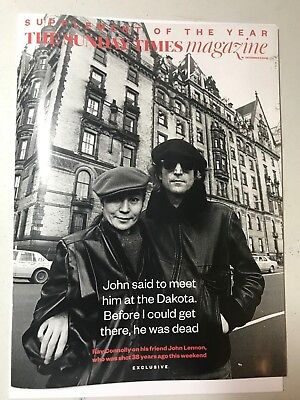 Sunday Times Magazine December 9 2018 John Lennon - New & Unread