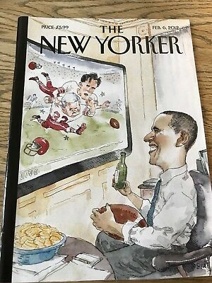 The New Yorker Magazine,Feb 6 2012 Barack Obama cover