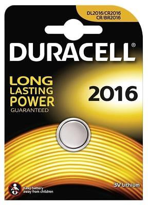 1x Duracell CR2016 3V Lithium Coin Cell Battery 2016, DL2016, BR2016, SB-T11 UK