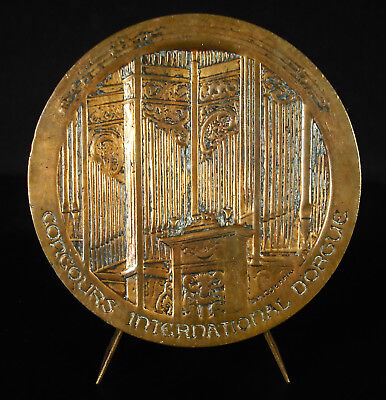 Médaille Concours international d'orgue église Chartres 1971 church organ medal
