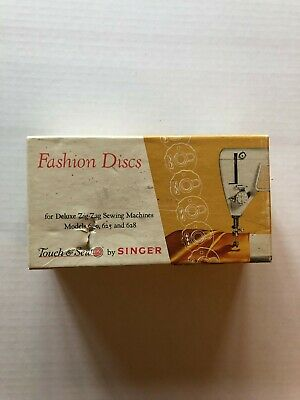 Singer Touch & Sew Fashion Discs for Zig-Zag Sewing Machines 620 625 628 #21976