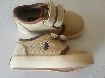 1eb30295d NEW Polo Ralph Lauren Toddler Boys SIZE 5 Ethan Low EZ Valcro Canvas  Sneakers
