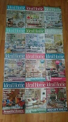 2017 Ideal Home Interiors Magazines Bundle X 12