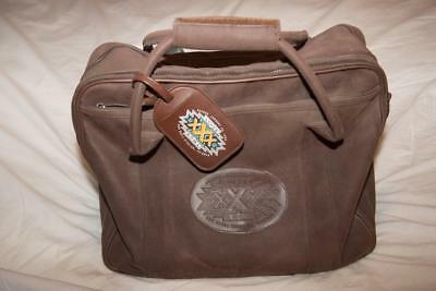 1996 Super Bowl XXX Official NFL-Issue Media/Press Leather Bag Cowboys/Steelers