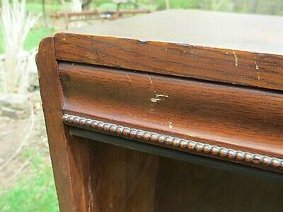 Antique Solid OAK Bookcase  circa 1900 ORIGINAL check on DELIVERY Availability