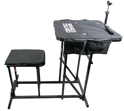 Shooting Table Bench Rest Rifle Target Range Gun Rest with Padded Seat Chair
