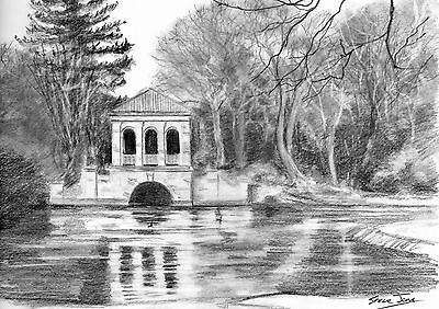Original  Pencil Drawing  of  Birkenhead Park,