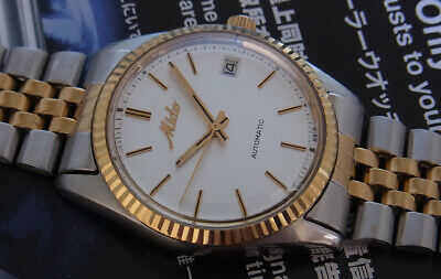 Nice & Rare Vintage Mido 2 Tone Automatic Watch Model 8007 Swiss Made..gent Size