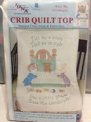 1 Jack Dempsey Now I Lay Me Down to Sleep Stamped XStitch-Embroidery Crib  Top