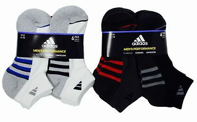 SALE! Adidas Men's Low Cut Performance Climalite 6 Pair Cushioned Socks- VARIETY