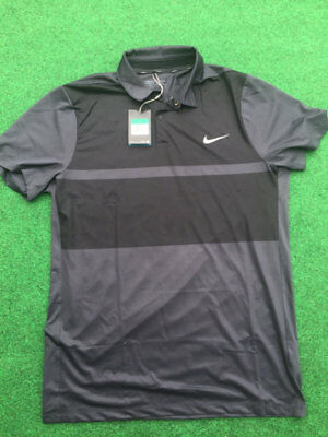 813fb8fa Nike Golf Momentum Fly Color Block Graphic Mens Polo Modern Fit Black $90  NEW XL