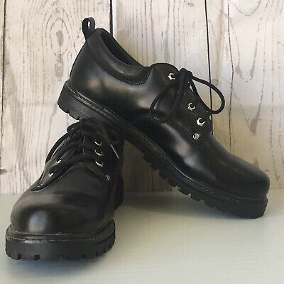 a3fd561f98 Skechers Mens 13 Alley Cats 7111 Leather Casual Work Shoe Lace Up Oxford  Black