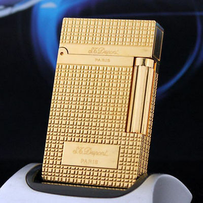 2019 NEW S.T Memorial lighter Bright Sound gold color lighter ! free shipping