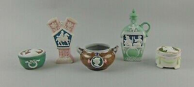 7pc Collection Of Rare Mettlach Ware/doulton Lambeth Art Pottery Miniatures German Pottery & China