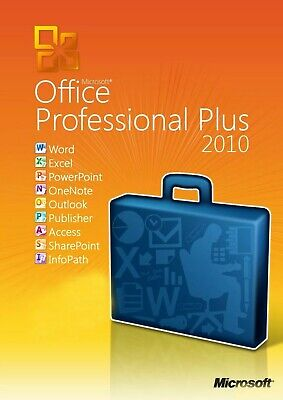 Microsoft Office 2010 Professional Pro Plus 32Bit 64Bit Vollversion Key Neuware