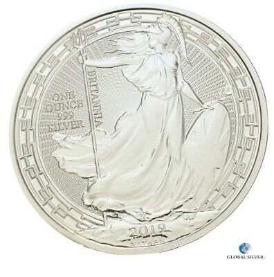 2019 1 oz silver Britannia Oriental Border coin new 2 Pounds in capsule ounce