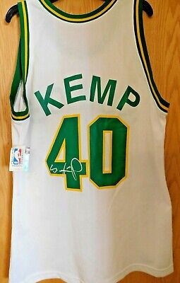 a7bdfcf49 Shawn Kemp Seattle Supersonics Signed Authentic Jersey JSA Authenticated