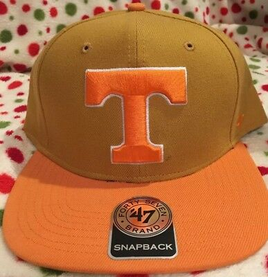 finest selection 24f63 e3dc4 University Of Tennessee Volunteers 47 Brand Orange Snapback Hat Cap New NWT