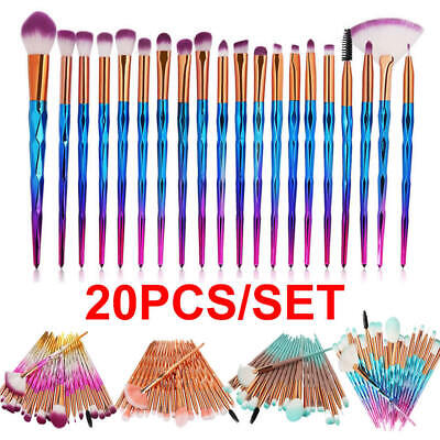 20PCS Unicorn Glitter Makeup Brushes Set Foundation Powder Blush Eyeshadow Brush