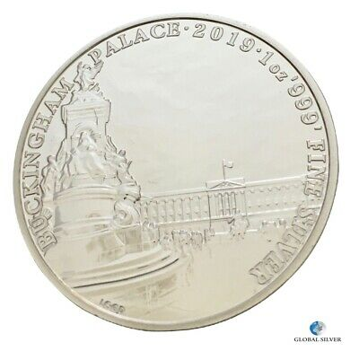 2019 Buckingham Palace Landmarks 1 oz silver coin new 2 Pounds in capsule unc.