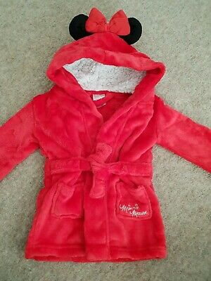 Baby Girl Disney Minnie Mouse Dressing Gown Age 9-12