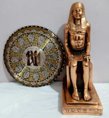Art of Egyptian Statues Ramses (Hand Made Copper) Old Pharaoh Decoration (2.1Kg)