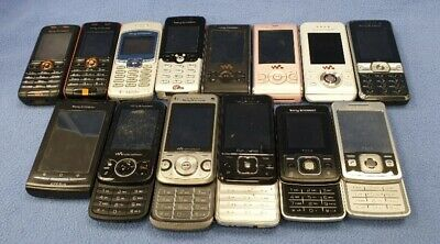 Job lot of 14 Old Vintage Sony Ericsson Mobile phones #845