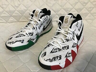 f89490558cf Nike Kyrie 4 BHM Black History Equality White Black Red Green GS AO1321 900  Sz 6
