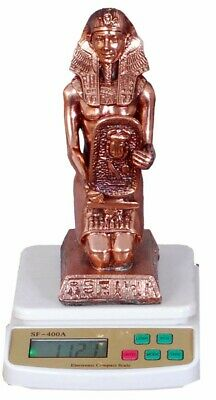 Egyptian Statue Tutankhamun (Hand Made Copper) Ancient Pharaohs Decor (1.1Kg)