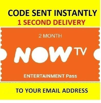 NOW TV Entertainment Pass - 2 Month Pass **INSTANT DELIVERY**