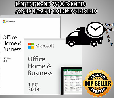 MICROSOFT OFFICE HOME and Business 2019 Windows/Mac 1 License PC Key  DownLoad