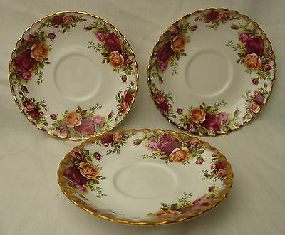 1 vintage royal albert old country roses bone china saucer replacement teaset