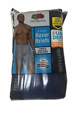 "Fruit of the Loom® BIG MEN'S SOFT BOXER BRIEFS 4/8 Pack 2XL   ""Tagless & Cotton"""