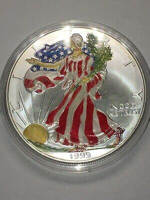 1999 Painted Silver American Eagle One Troy Ounce