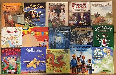 Lot of 30 Scholastic Classroom Teacher Reading Bedtime-Story Time Child Book 1A2