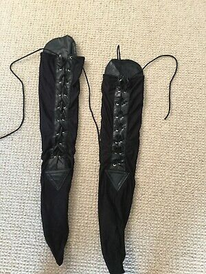 Black jazz dance lace up spats One size