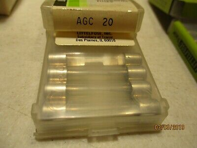 Agc-20  Fuse- Lot Of 10--Littelfuse --Made In Usa